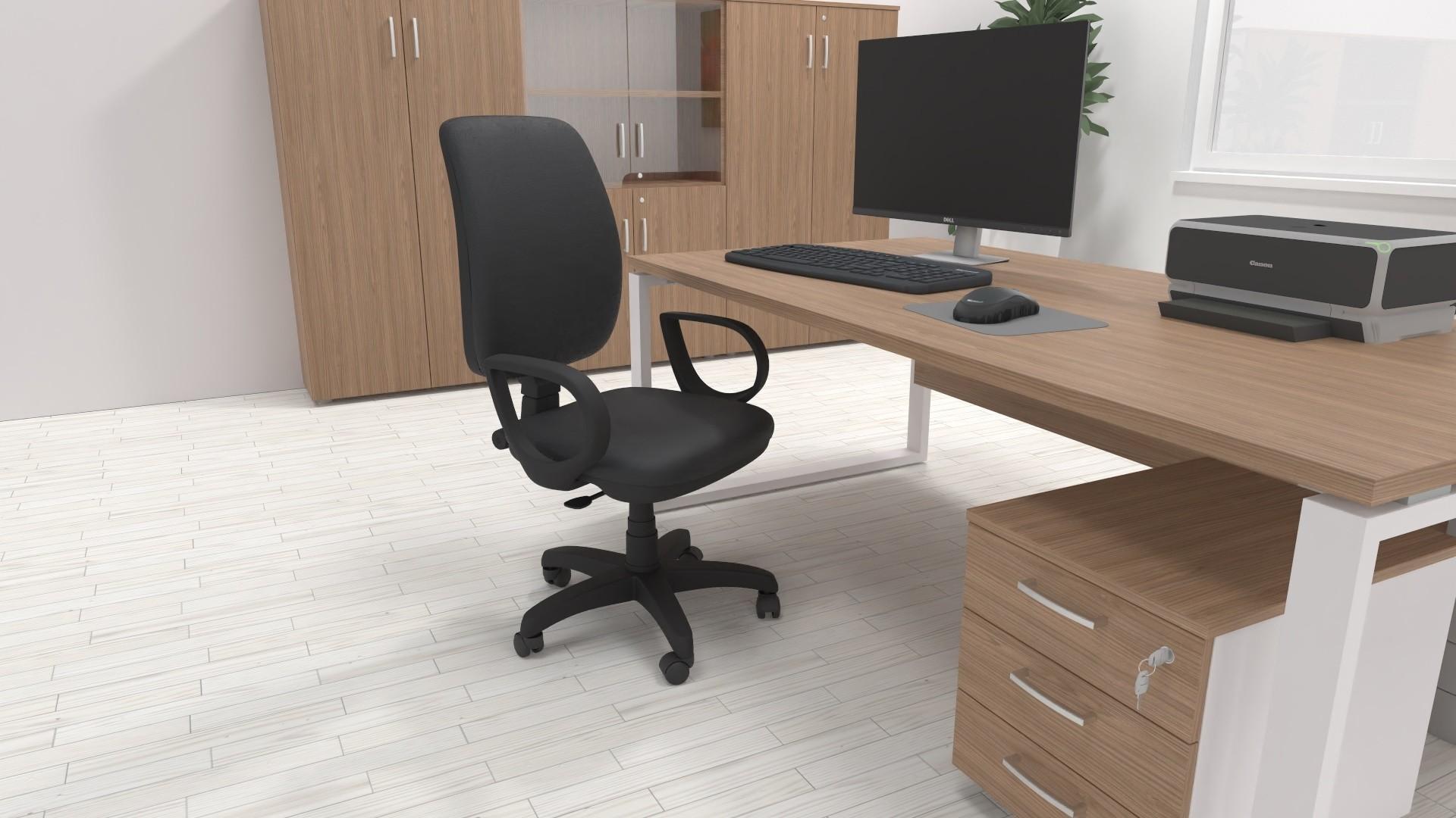 Sedia da Ufficio in Ecopelle ACTIVE Nera - OneLiving ...